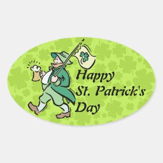 Happy St. Patricks Day! Oval Stickers