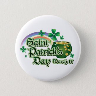 Happy St. Patrick's Day Text 2 Inch Round Button