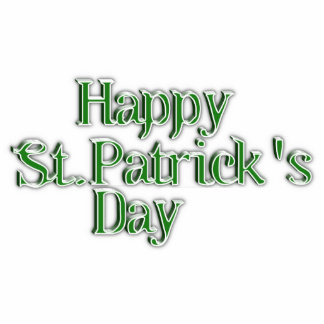 Happy St Patrick's Day Text Image Photo Sculptures