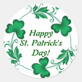 Happy St. Patrick's Day! Wrist Classic Round Sticker