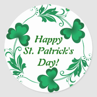 Happy St. Patrick's Day! Wrist Round Sticker
