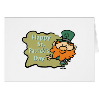 Happy St. Patrick's Leprechaun Card