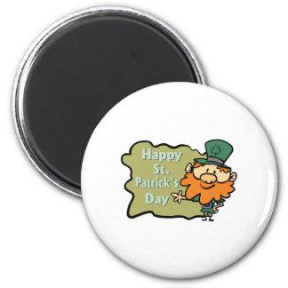 Happy St. Patrick's Leprechaun Fridge Magnet