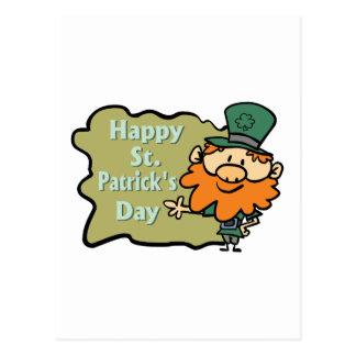 Happy St. Patrick's Leprechaun Postcard