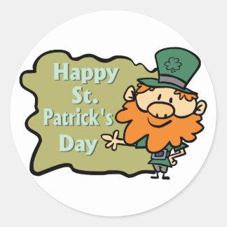 Happy St. Patrick's Leprechaun Sticker