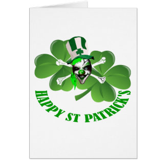 Happy St Patrick's scary clown Stationery Note Card