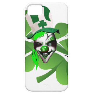 Happy St Patrick's scary clown iPhone 5 Covers