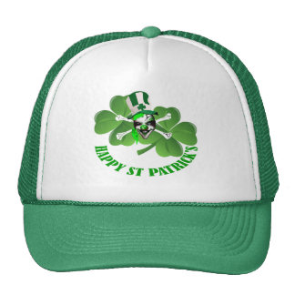 Happy St Patrick's scary clown Hat