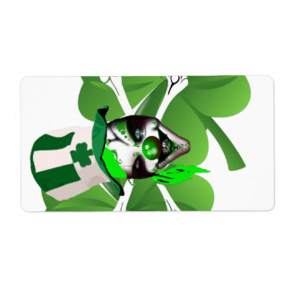 Happy St Patrick's scary clown Shipping Label