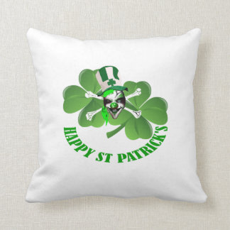 Happy St Patrick's scary clown Pillow