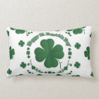 Happy St Patrick's Shamrocks Lumbar Pillow
