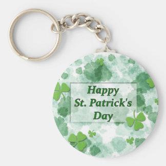 Happy St. Patricks's Day Basic Round Button Keychain