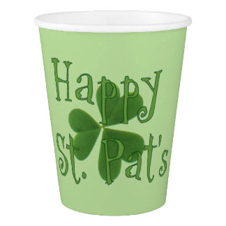 Happy St. Pat's Day Cups