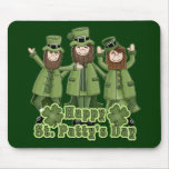 Happy St Patty's Day Leprechauns Mousepad
