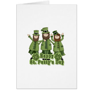 Happy St Patty's Day Leprechauns Note Card
