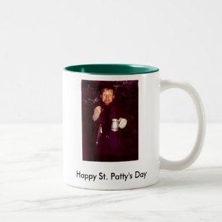 Happy St. Patty's Day Two-Tone Coffee Mug
