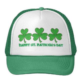 Happy St. Saint Patrick's Day Green Shamrock Hat