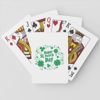 Happy St Saint Patrick's Day Playing Cards