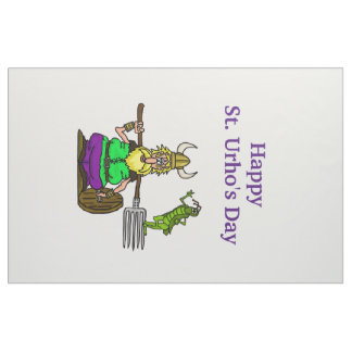 Happy St. Urho's Day Fabric for Flag or Decoration
