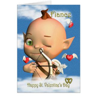 Happy St. Valentine's Day Card Fiance