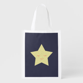 Happy Star Reusable Grocery Bag