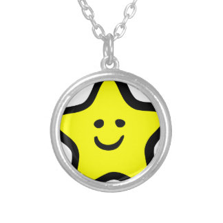 Happy Star Silver Plated Necklace