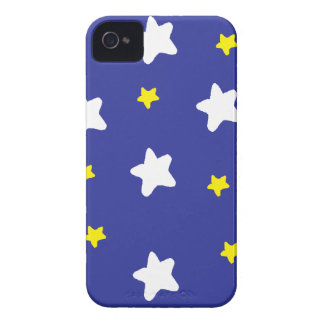 Happy Stars Blue iPhone 4 Case