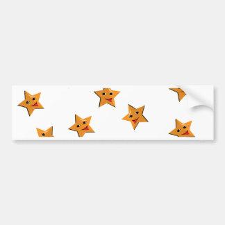 Happy stars bumper sticker