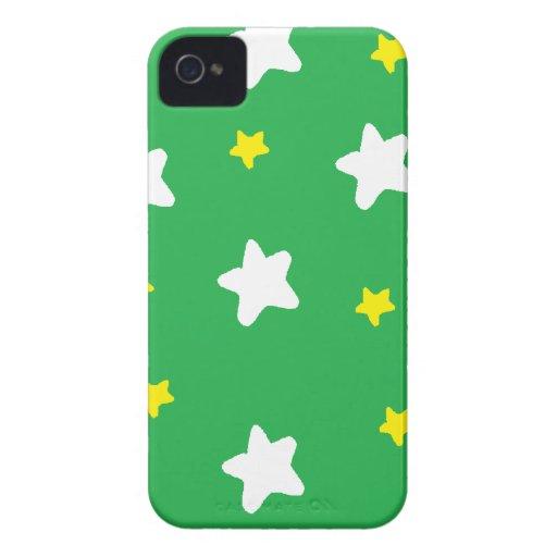 Happy Stars Green Blackberry Bold Covers