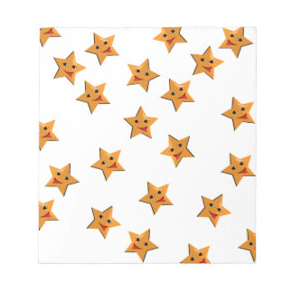 Happy stars notepad