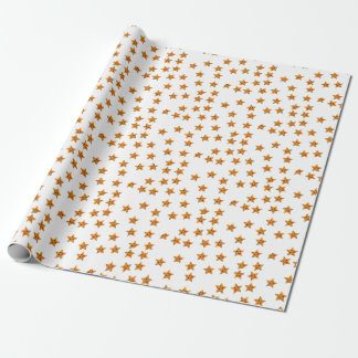 Happy stars wrapping paper