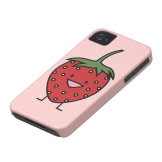 Happy Strawberry Case-Mate iPhone 4 Cases