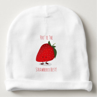 Happy Strawberry Character | Baby Hat Baby Beanie