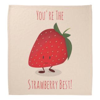 Happy Strawberry Character   Bandana