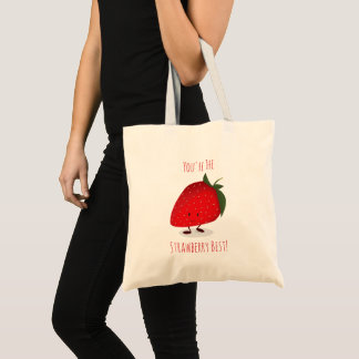 Happy Strawberry Character |  Basic Tote