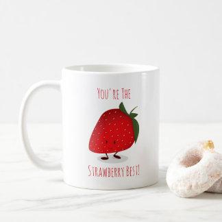 Happy Strawberry Character | Mug