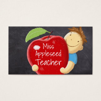 Happy Student Teacher Business Card Template