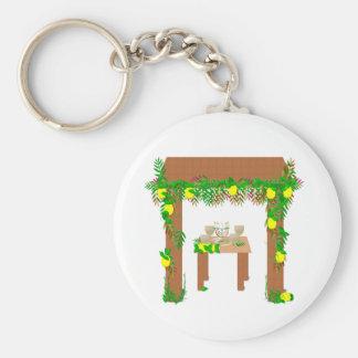 Happy Sukkot Keychain