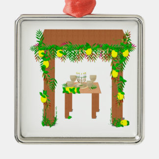 Happy Sukkot Metal Ornament