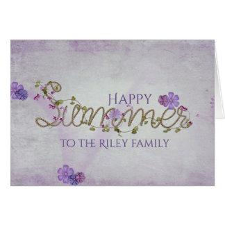 happy summer rope design card