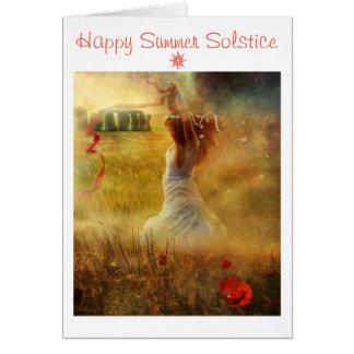 Happy Summer Solstice Card