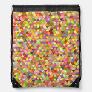 Happy summer triangles drawstring bag