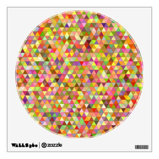 Happy summer triangles wall decal
