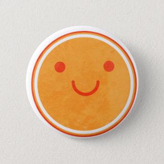 Happy sun 2 inch round button
