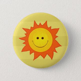 Happy sun button