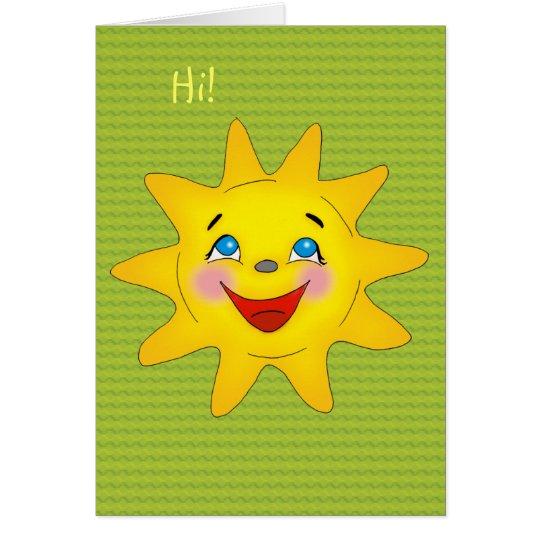 Happy sun - Card Template