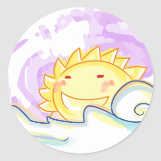 happy sun rise sticker