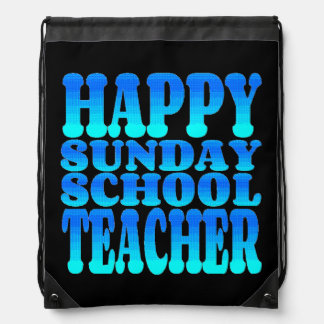 Happy Sunday School Teacher Drawstring Bag
