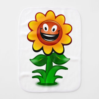 HAPPY SUNFLOWER BURP CLOTH