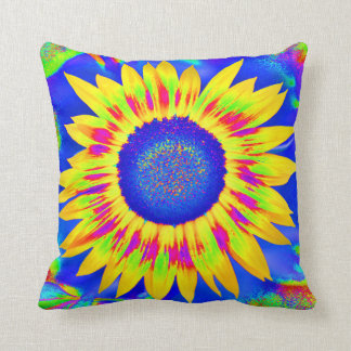 Happy Sunflower cushion for flower children and